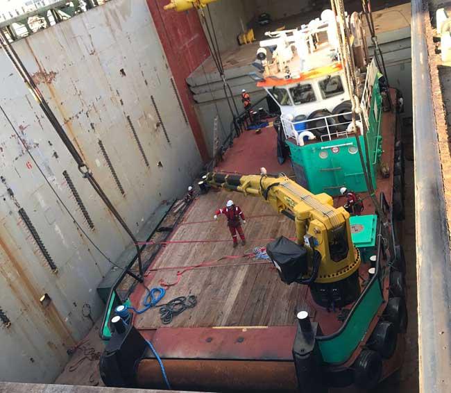 Onboard shipping vessel